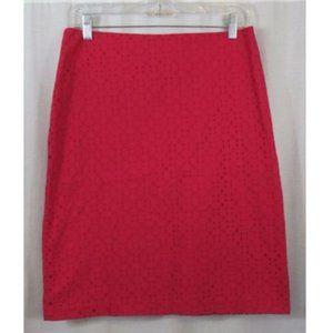 New York & Company Pink Eyelet A Line Skirt 4